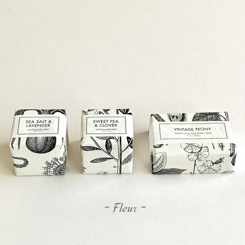 【Gift set】FORMULARY55  バーソープ&バスフィズ ギフトボックスセット[Fleurフルール]