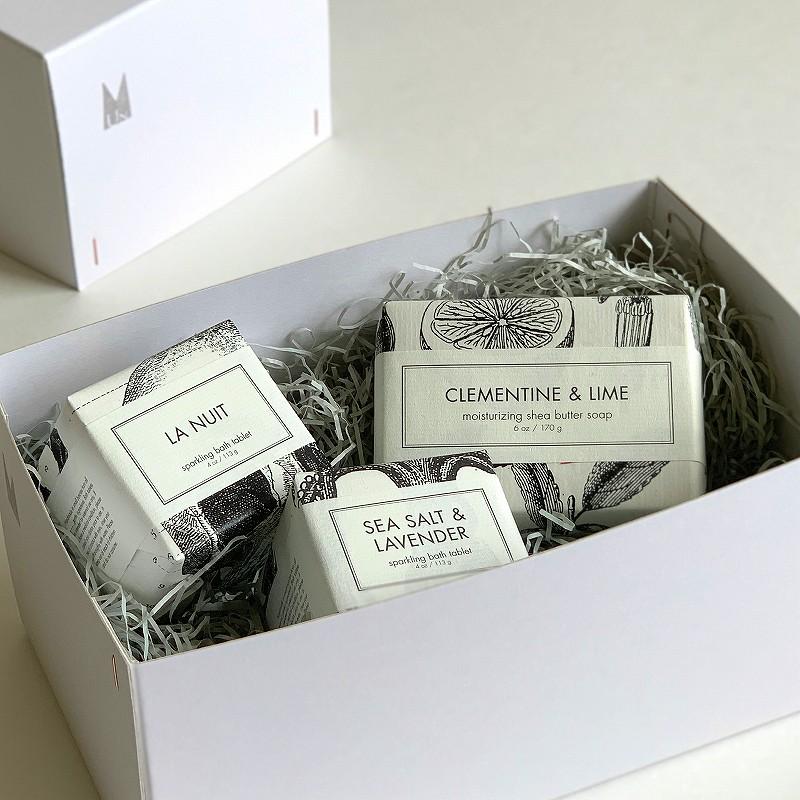 【Gift set】FORMULARY55  バーソープ&バスフィズ ギフトボックスセット[Soleilソレイユ]