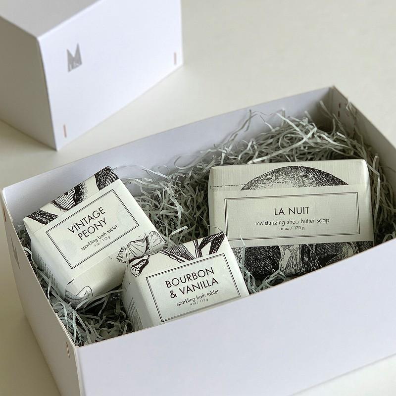 【Gift set】FORMULARY55  バーソープ&バスフィズ ギフトボックスセット[Coquettishコケティッシュ]
