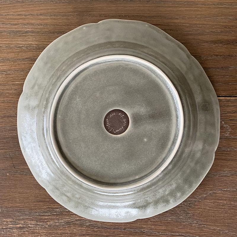 阿部 慎太朗[Shintaro Abe]花形リムレリーフ深皿7寸 グレー
