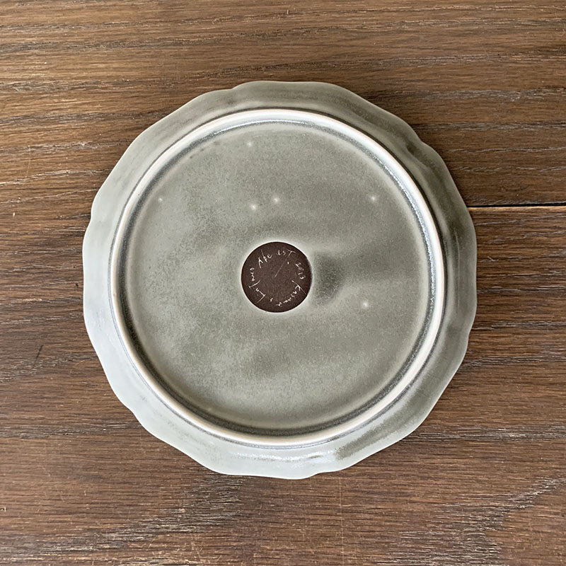 阿部 慎太朗[Shintaro Abe]花形細リム皿5寸 グレー