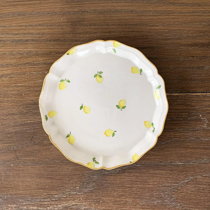 阿部 慎太朗[Shintaro Abe]花形細リムプレート5寸 檸檬