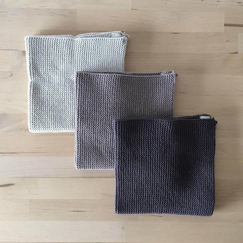 Solwang Dish cloth 3pc gray gradation ソルワン ディッシュクロス 3pcセット グレーグラデーション