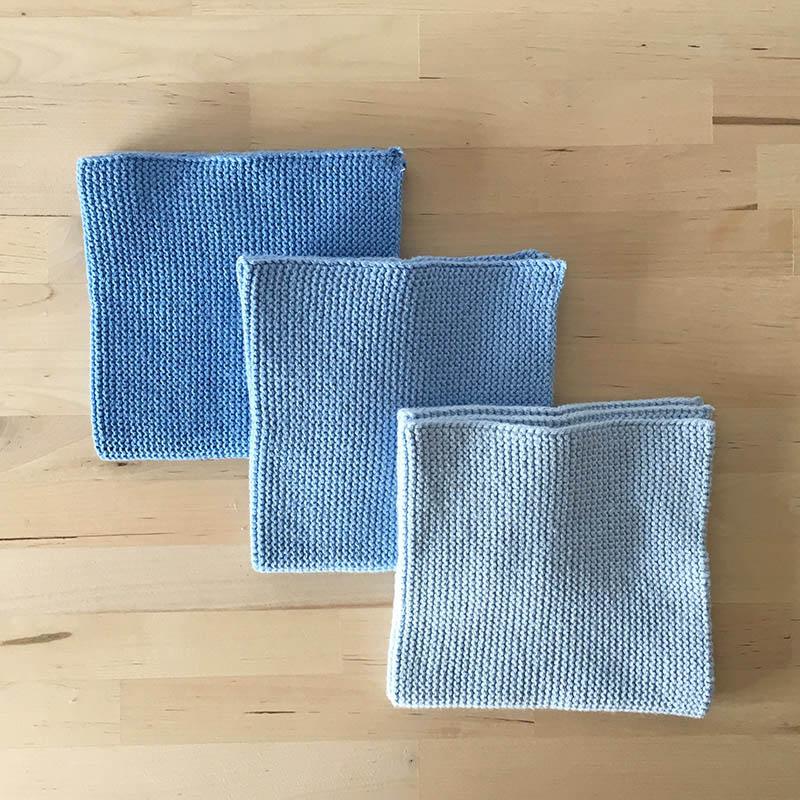 Solwang Dish cloth 3pc blue gradation ソルワン ディッシュクロス 3pcセット ブルーグラデーション