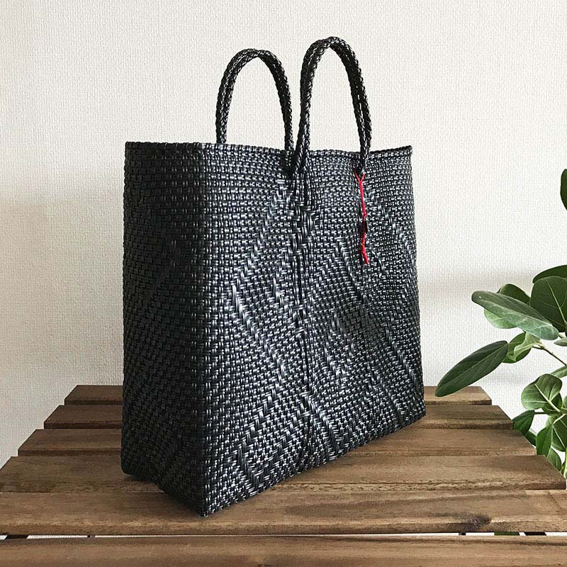 送料無料!Mexico mercado bag M Black メキシコ メルカドバッグ M ブラック