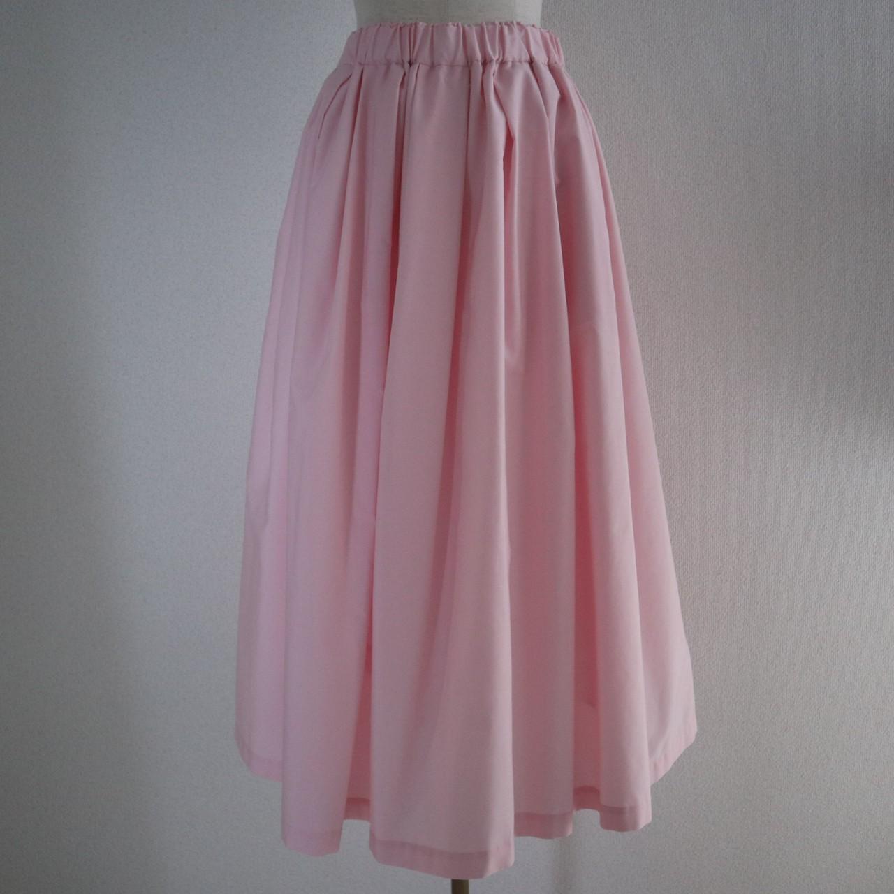 ボリュームフレアスカート(PINK)