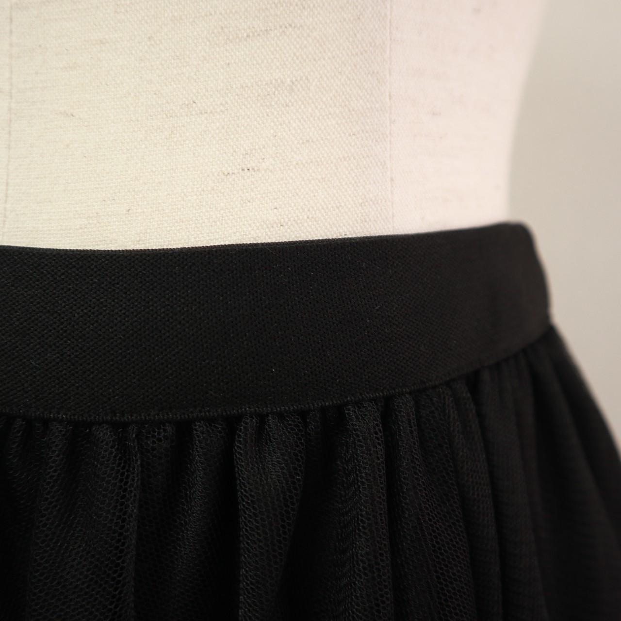 チュールスカート(BLACK)