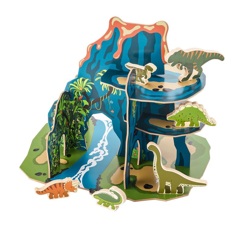 IKEA //恐竜ごっこの木製おもちゃ