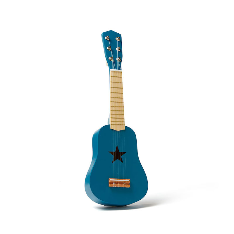 kids concept //木製おもちゃのギター(ブルー)