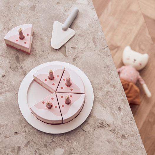 kids concept //木製おもちゃのバースデーケーキ(ピンク)