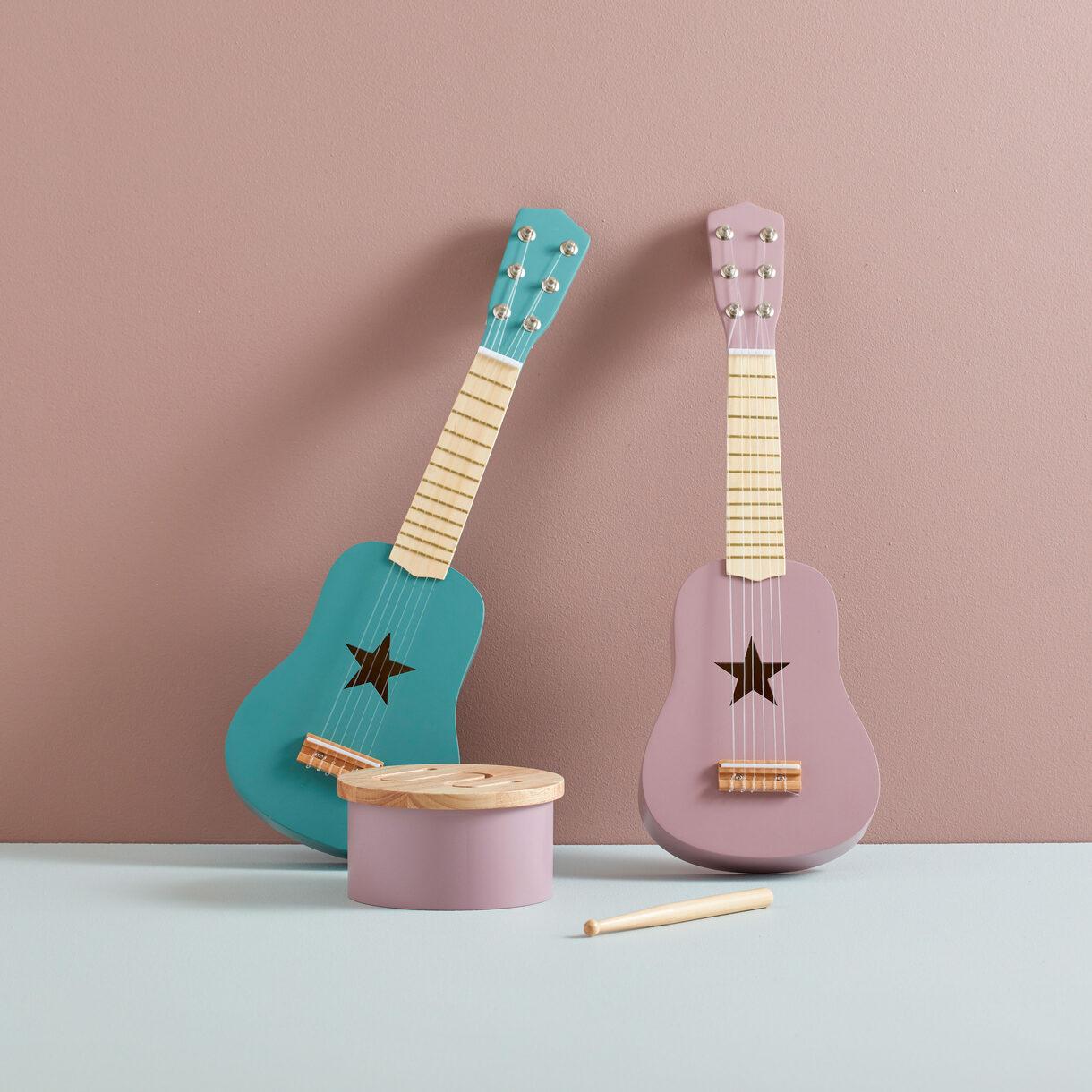 kids concept //木製おもちゃのギター(ライラック)