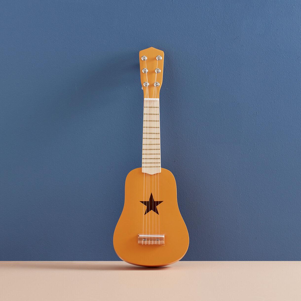 kids concept //木製おもちゃのギター(マスタード)