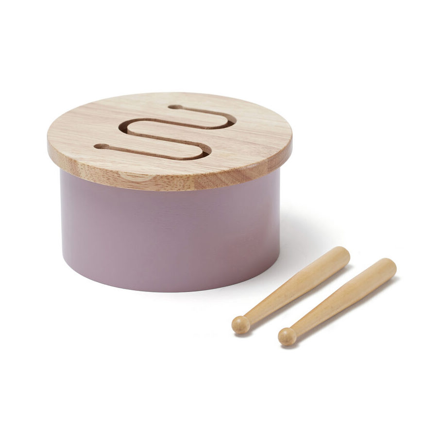 kids concept //木製おもちゃのドラム(ライラック)