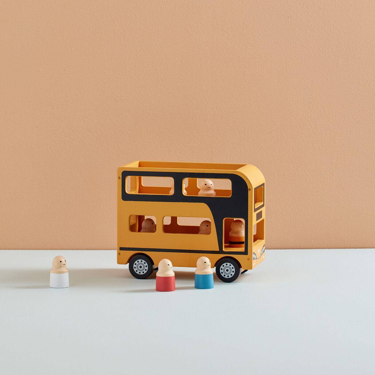 kids concept //木製おもちゃの二階建てバスセット