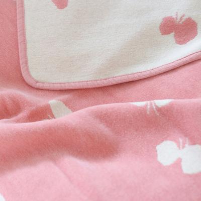 KLIPPAN/ オーガニックコットンミニブランケット(CHOUCHOU)ピンク