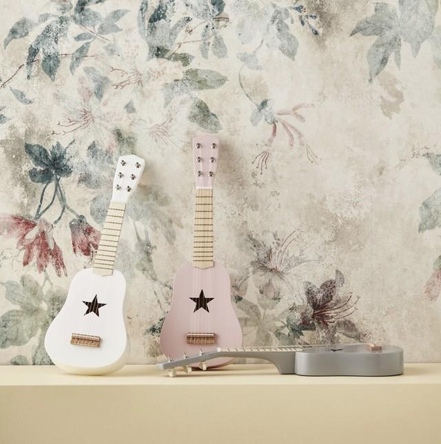 kids concept //木製おもちゃのギター(ピンク)