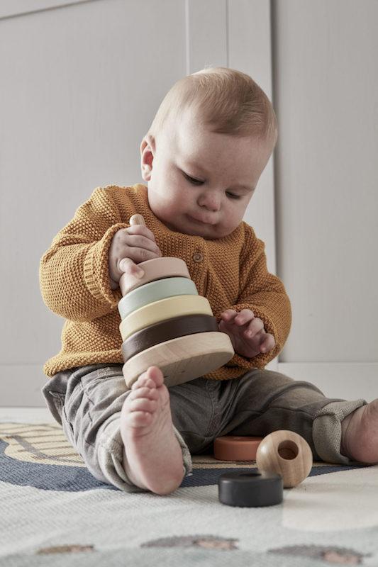 kids concept //木製おもちゃのスタッキッグトイ(Edvin)