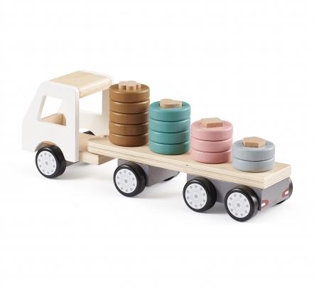 kids concept //木製おもちゃのスタッキッグトラック