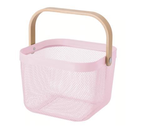 IKEA //RISATORP バスケット(ピンク)