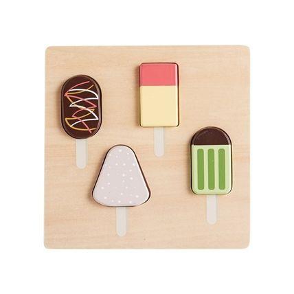 kids concept //木製おもちゃのアイスキャンディパズル