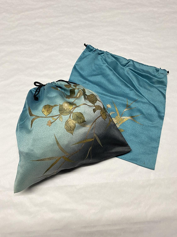 upcycle99/着物巾着袋(2枚セット)/Q-223
