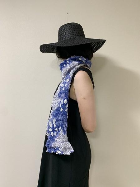 upcycle99/着物絞りスカーフ/P-101