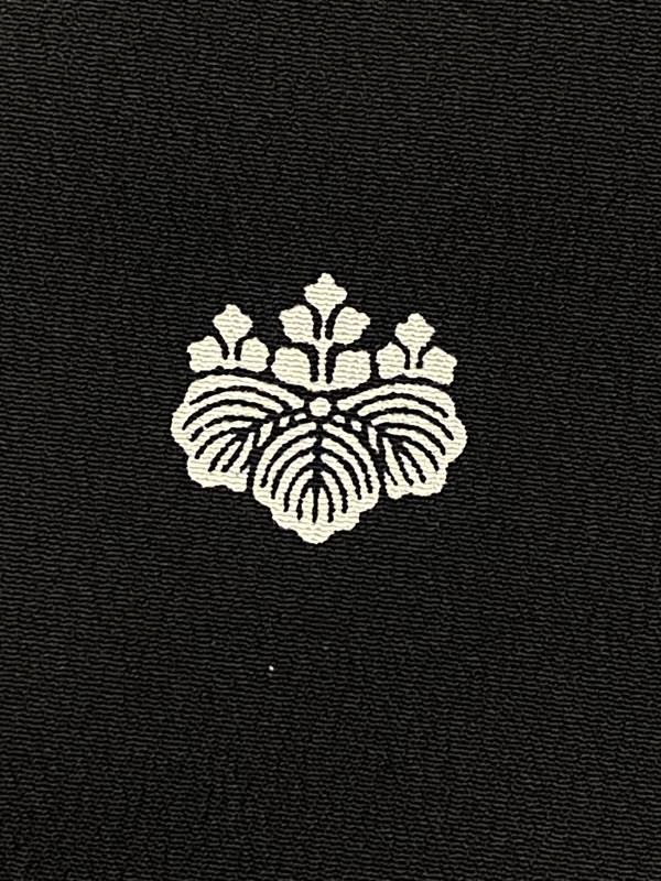 upcycle99/着物家紋入巾着袋(2枚セット)/五三桐/U-283