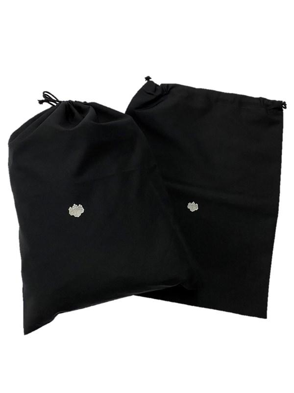 upcycle99/着物家紋入巾着袋(2枚セット)/五三桐/U-286