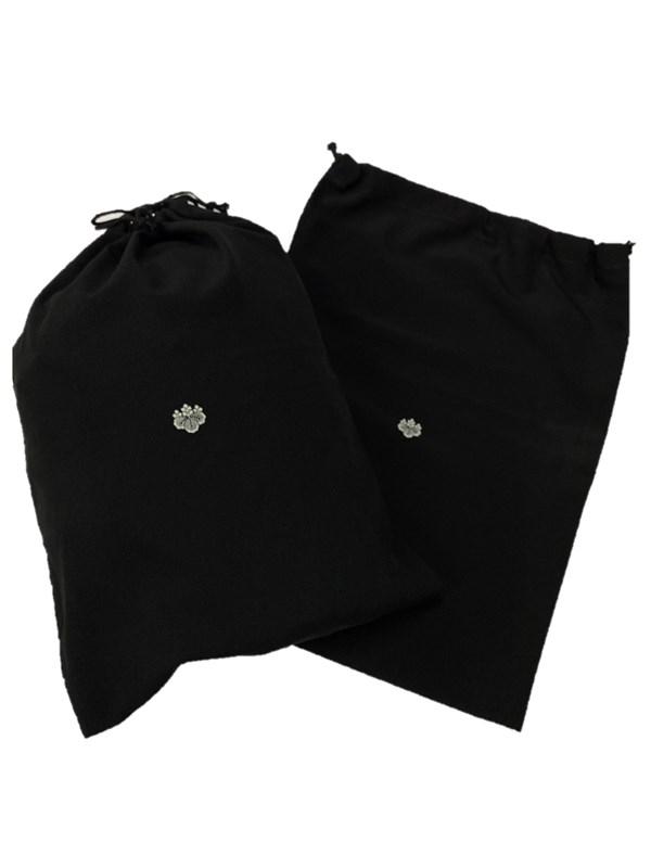 upcycle99/着物家紋入巾着袋(2枚セット)/五三桐/U-287