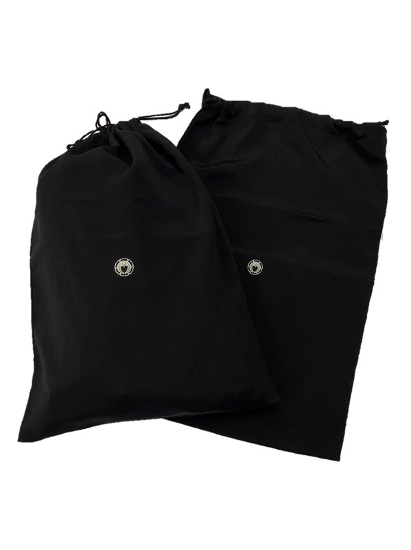 upcycle99/着物家紋入巾着袋(2枚セット)/雪輪に下がり藤/U-290