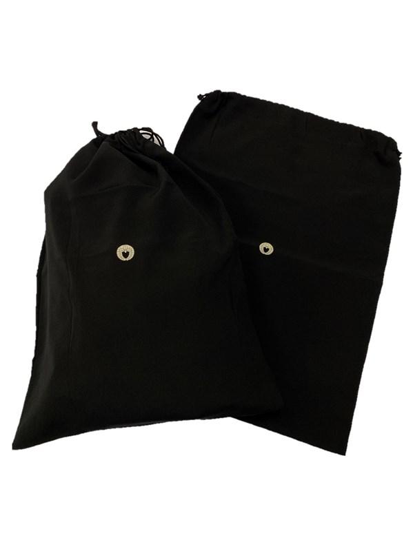 upcycle99/着物家紋入巾着袋(2枚セット)/下り藤/U-296