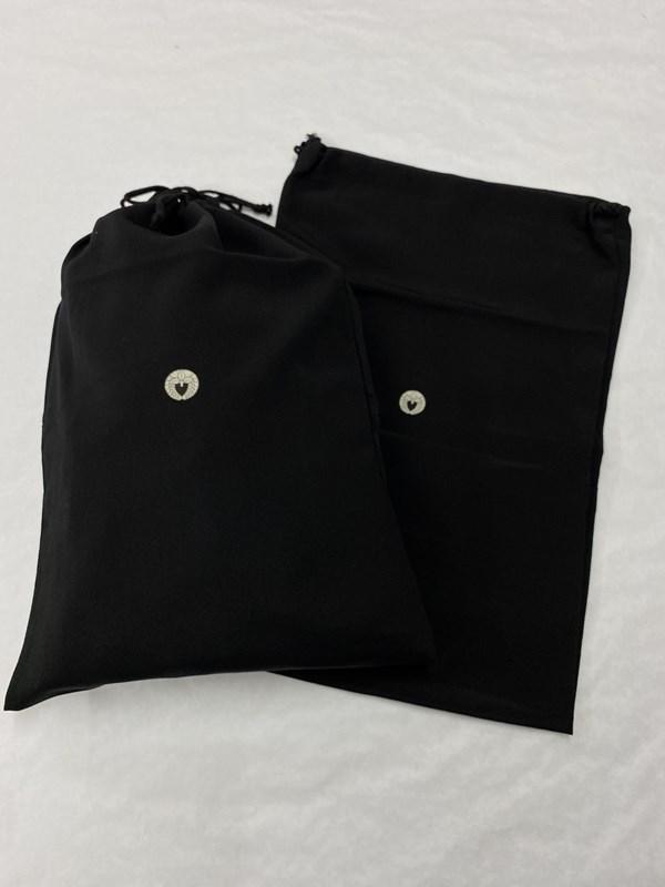 upcycle99/着物家紋入巾着袋(2枚セット)/下り藤/U-298