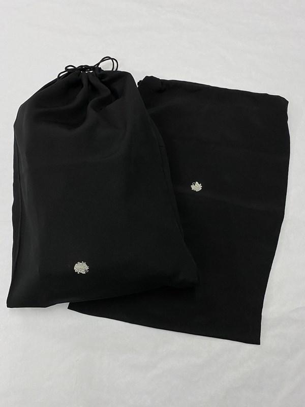 upcycle99/着物家紋入巾着袋(2枚セット)/揚羽蝶/U-313