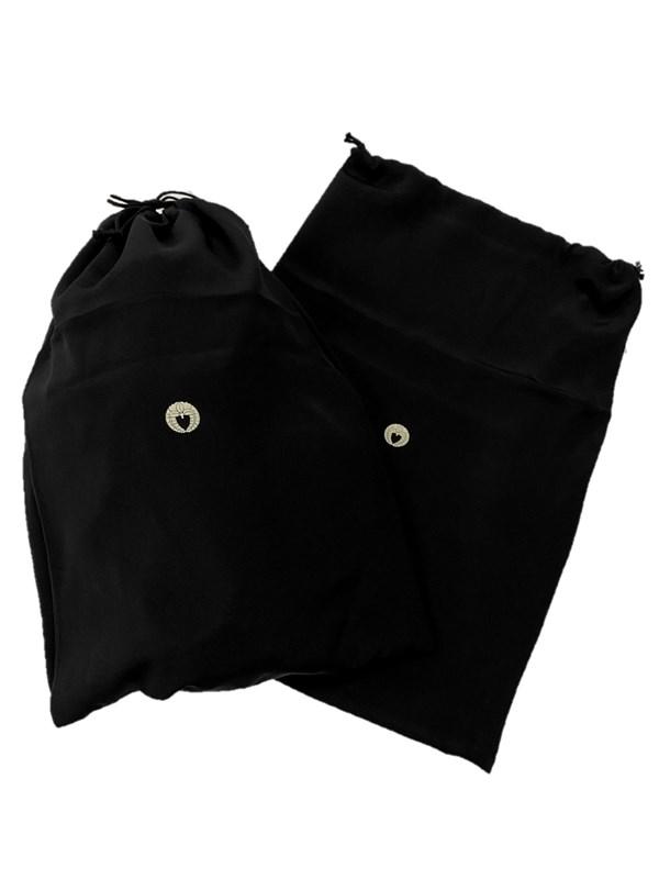 upcycle99/着物家紋入巾着袋(2枚セット)/下り藤/U-213