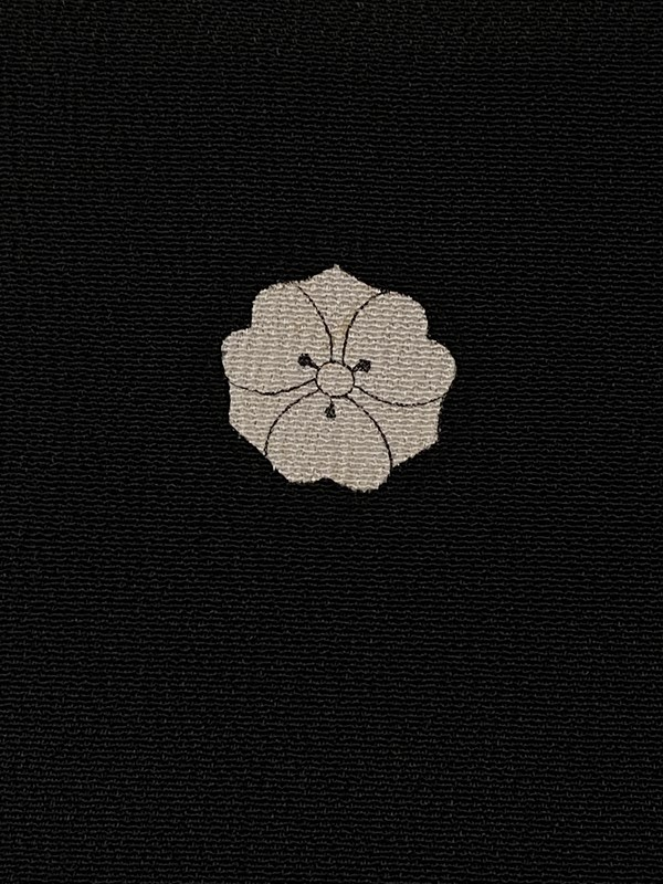 upcycle99/着物家紋入巾着袋(2枚セット)/剣片喰/U-220
