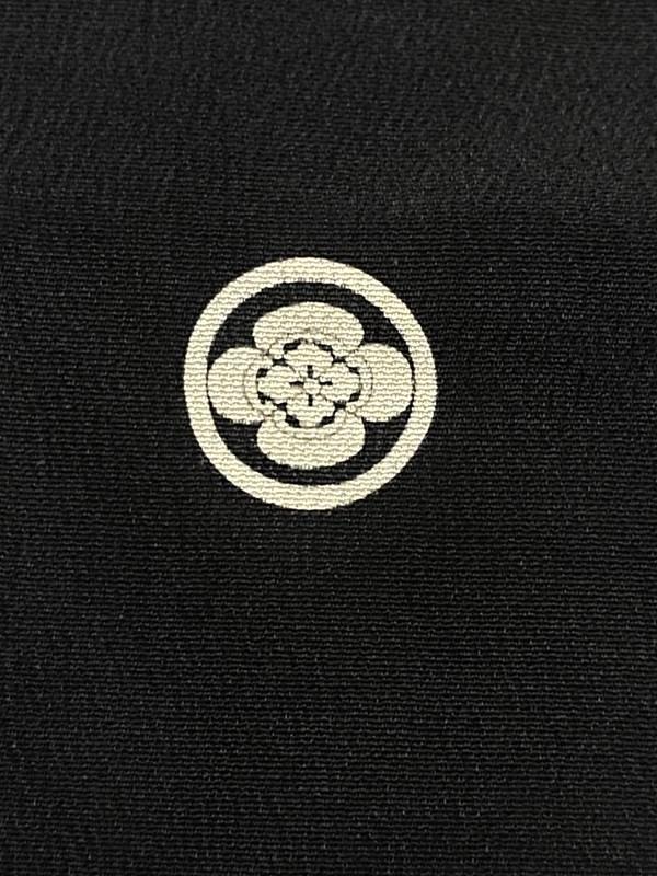 upcycle99/着物家紋入巾着袋(2枚セット)/丸に木瓜/U-237