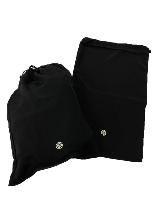 upcycle99/着物家紋入巾着袋(2枚セット)/丸に木瓜/U-240