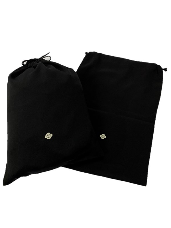 upcycle99/着物家紋入巾着袋(2枚セット)/木瓜/U-249