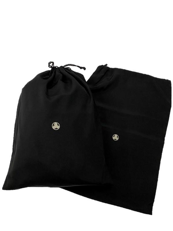 upcycle99/着物家紋入巾着袋(2枚セット)/丸に三つ柏/U-251