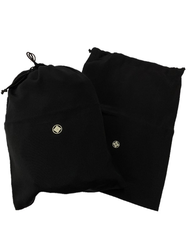 upcycle99/着物家紋入巾着袋(2枚セット)/十一割り隅立て四つ目/U-253