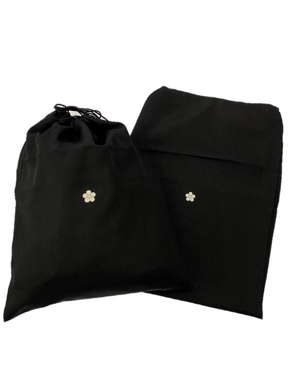upcycle99/着物家紋入巾着袋(2枚セット)/梅鉢/U-257