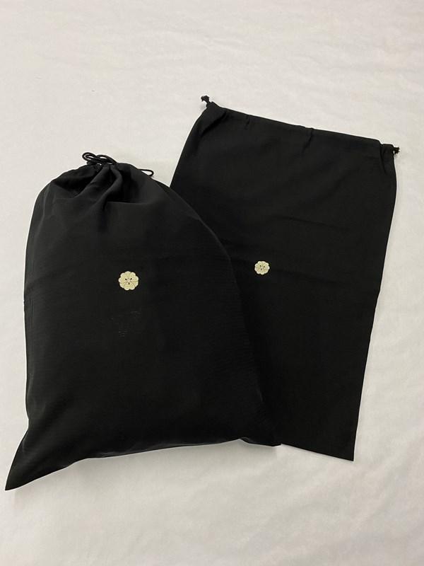 upcycle99/着物家紋入巾着袋(2枚セット)/剣片喰/U-260
