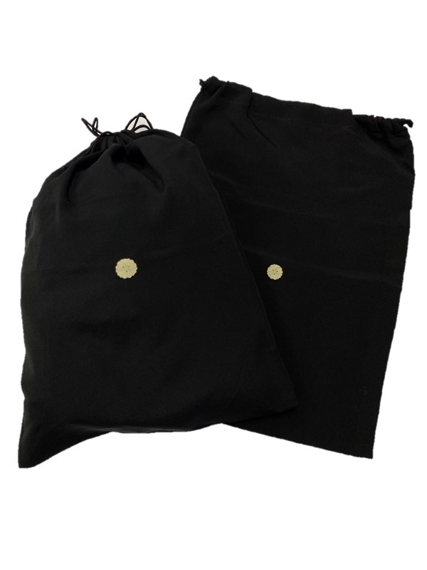 upcycle99/着物家紋入巾着袋(2枚セット)/花剣片喰/U-261