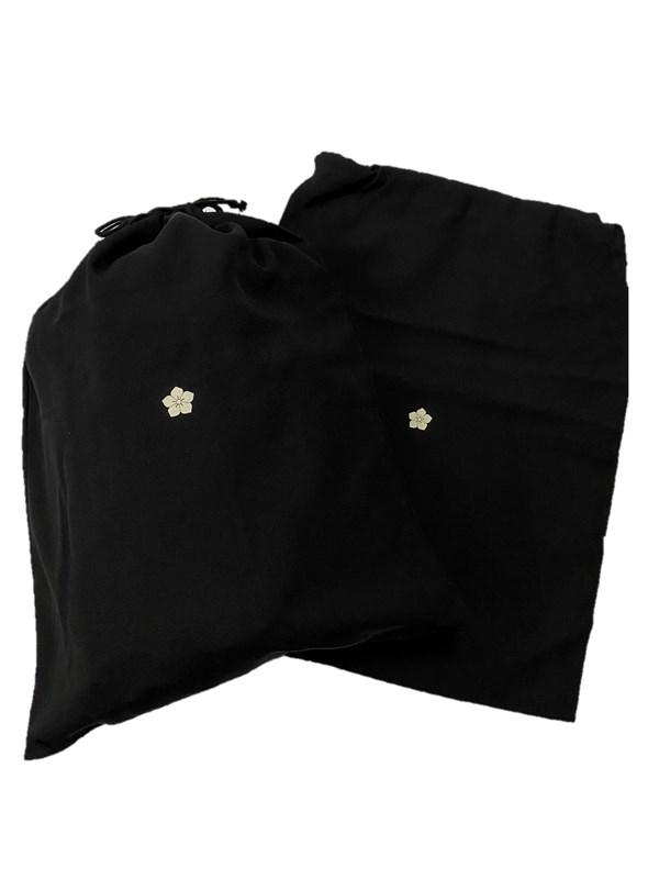 upcycle99/着物家紋入巾着袋(2枚セット)/桔梗/U-262