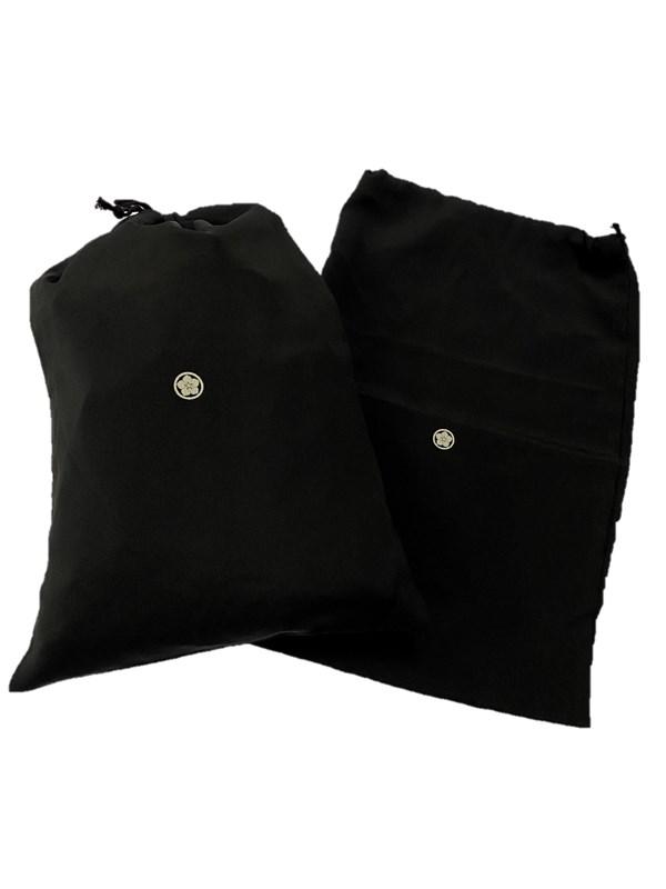 upcycle99/着物家紋入巾着袋(2枚セット)/丸に桔梗/U-270