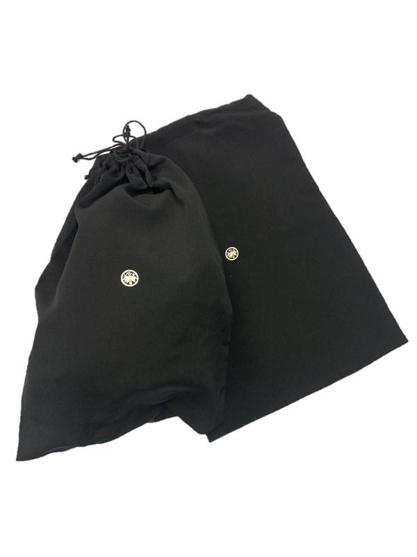 upcycle99/着物家紋入巾着袋(2枚セット)/丸に若根笹/Q-148