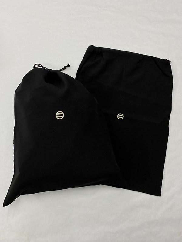 upcycle99/着物家紋入巾着袋(2枚セット)/二つ引両/U-271