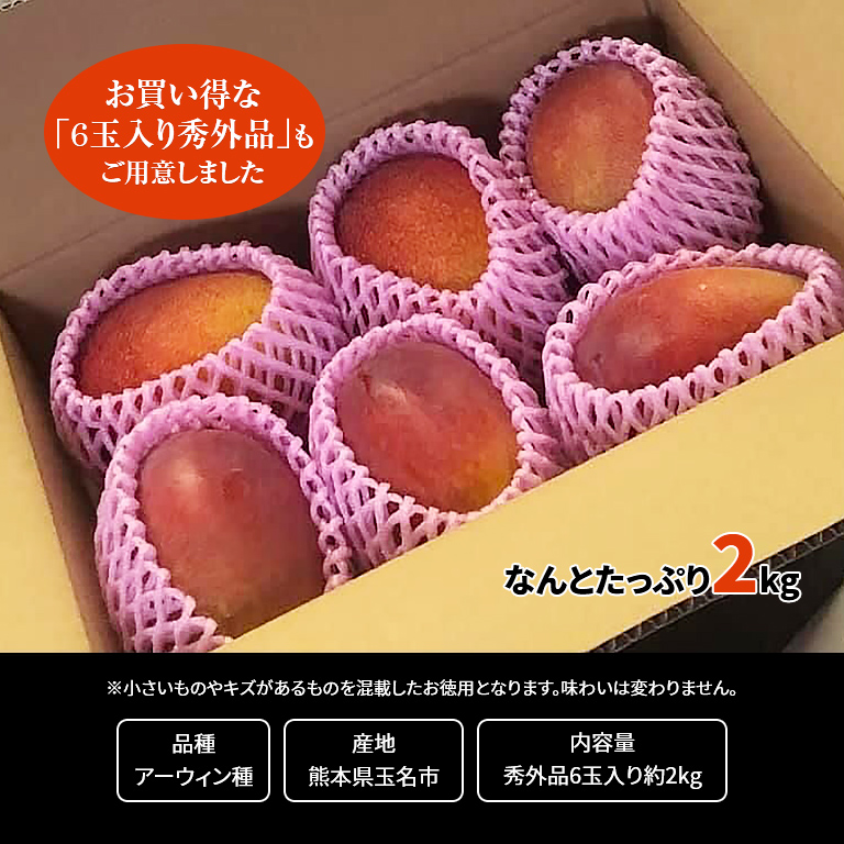 【予約販売】【直送】熊本県産 完熟マンゴー6玉入り(秀外品)
