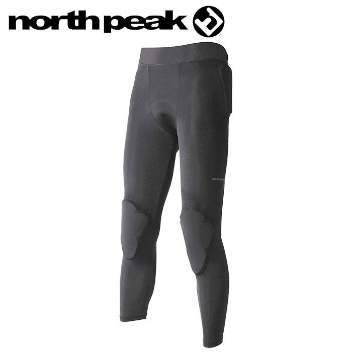 ノースピーク プロテクター ロングタイプ ヒップ 膝 スノーボード ユニセックス スキー 黒 NP-1244