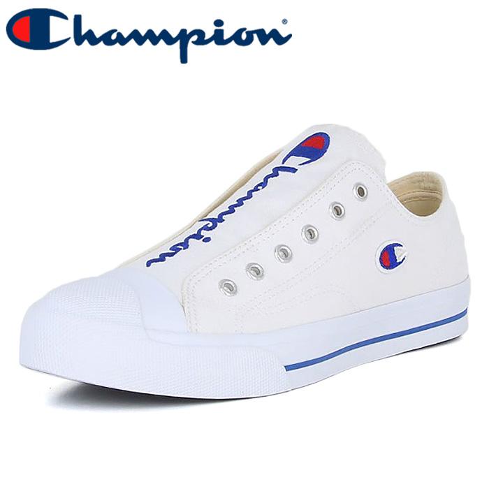 チャンピオン センターコートOX スリッポン スニーカー シューズ ロゴ ホワイト CHAMPION LC025